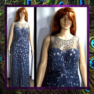 Grey Silver Gown by Adrianna Papell #095
